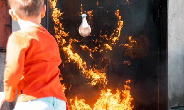 Een brand blussen met een… bloemenvaas